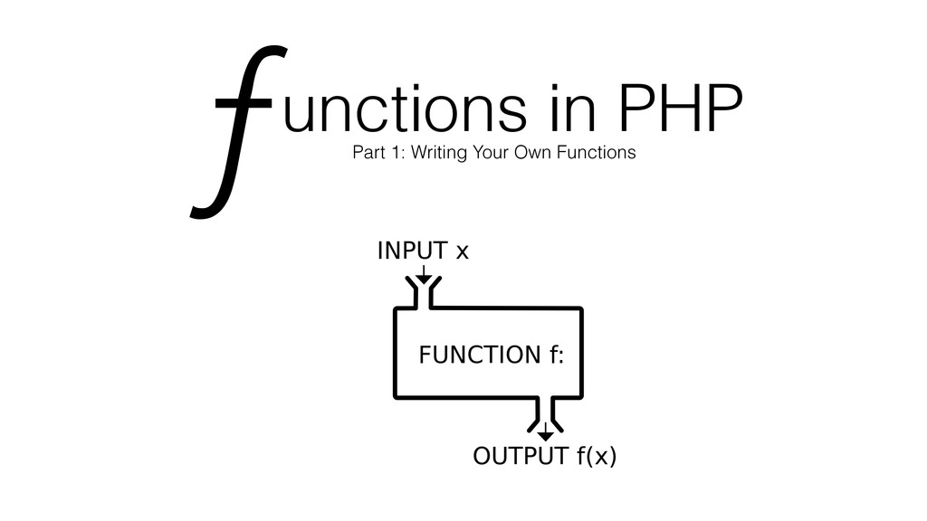 unctions in PHP Part 1: Writing Your Own Functi...