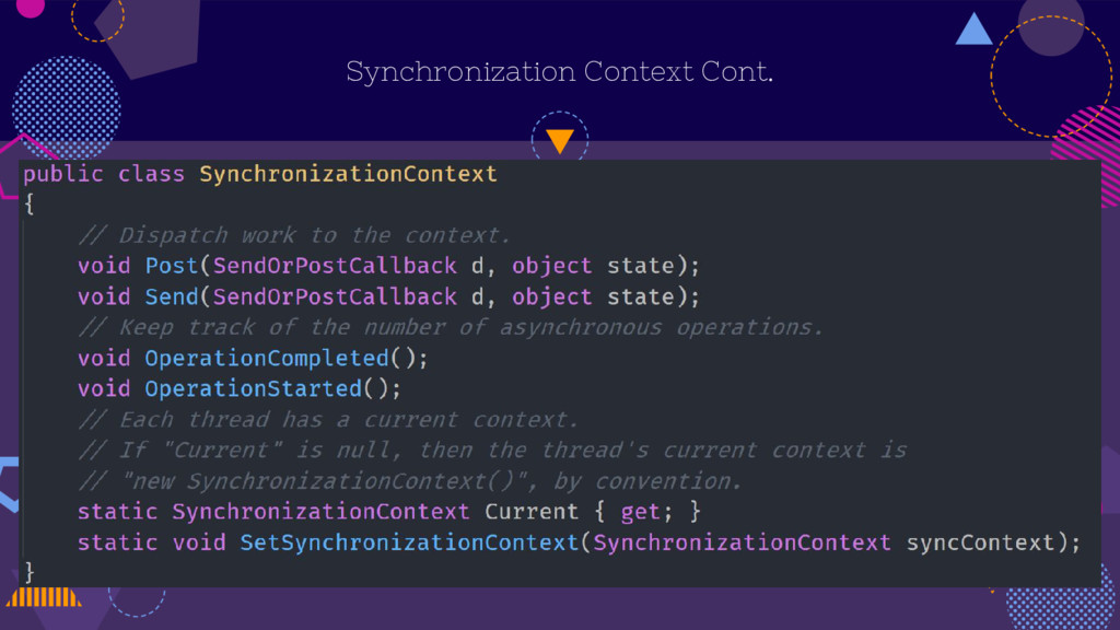 Synchronization Context Cont.