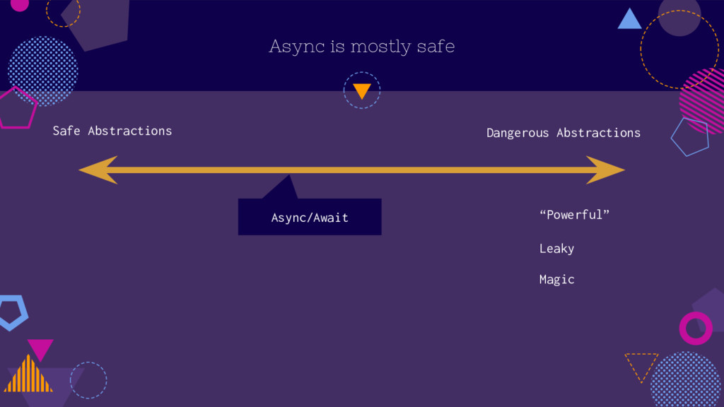 Async is mostly safe Safe Abstractions Dangerou...