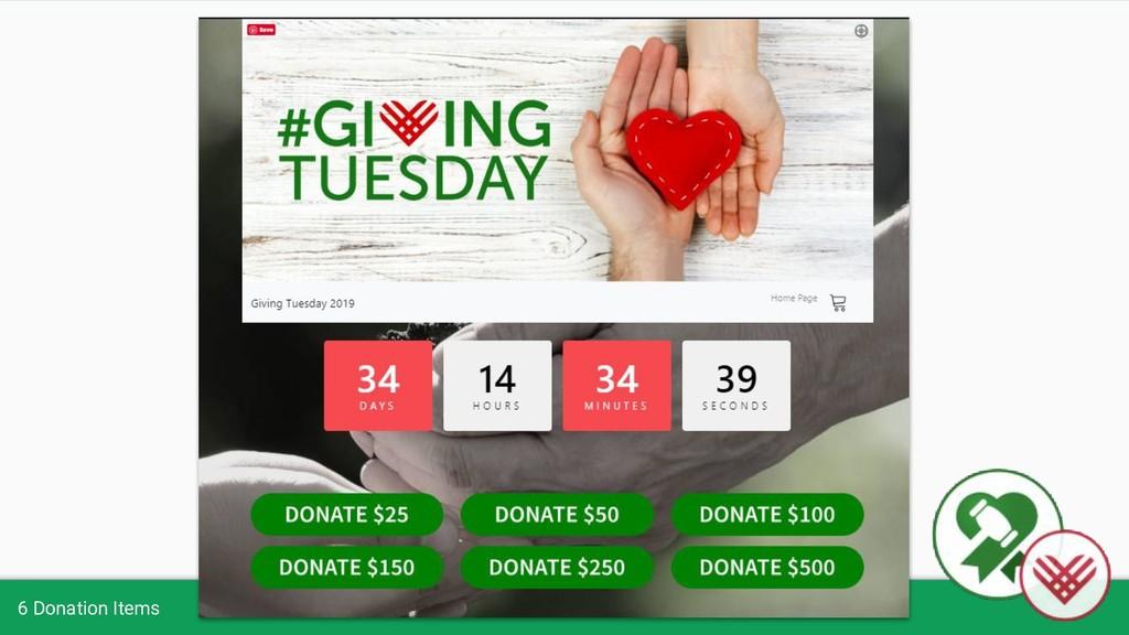6 Donation Items
