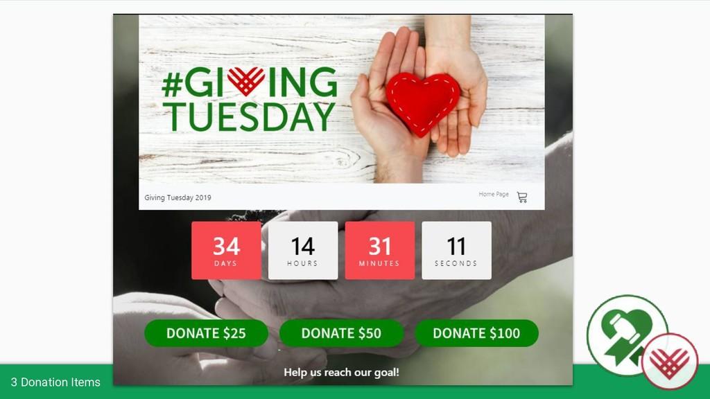 3 Donation Items