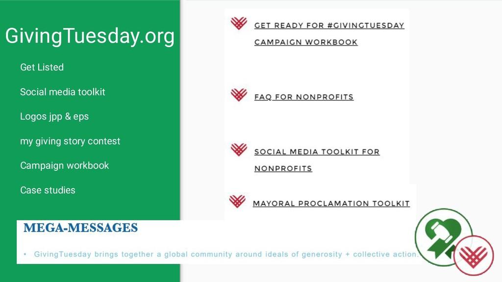 GivingTuesday.org Get Listed Social media toolk...