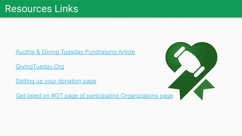 Resources Links Auctria & Giving Tuesday Fundra...