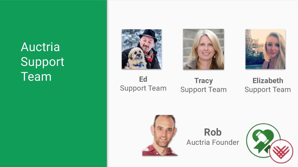 Auctria Support Team Rob Auctria Founder Tracy ...