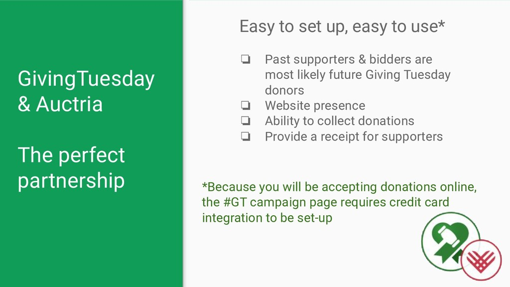 GivingTuesday & Auctria The perfect partnership...