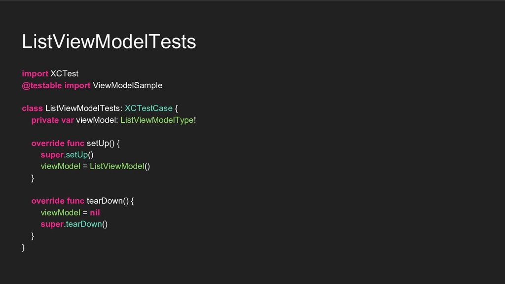 ListViewModelTests import XCTest @testable impo...