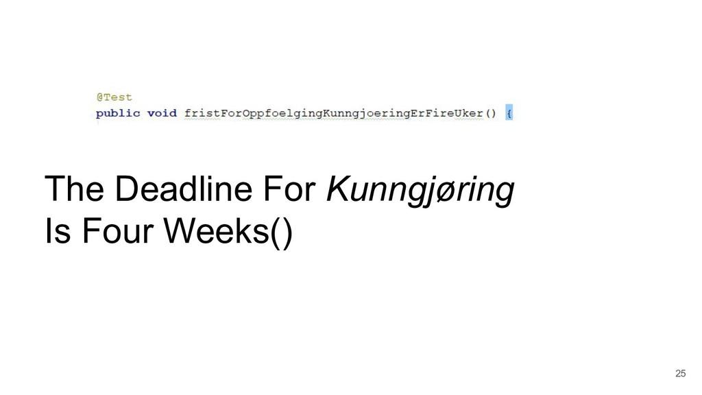 25 The Deadline For Kunngjøring Is Four Weeks()