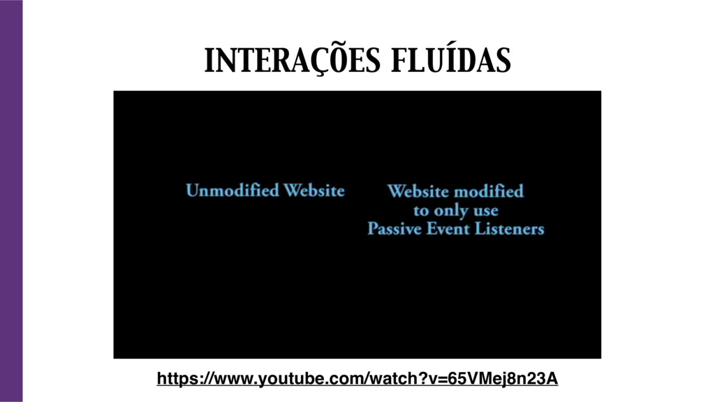 INTERAÇÕES FLUÍDAS https://www.youtube.com/watc...