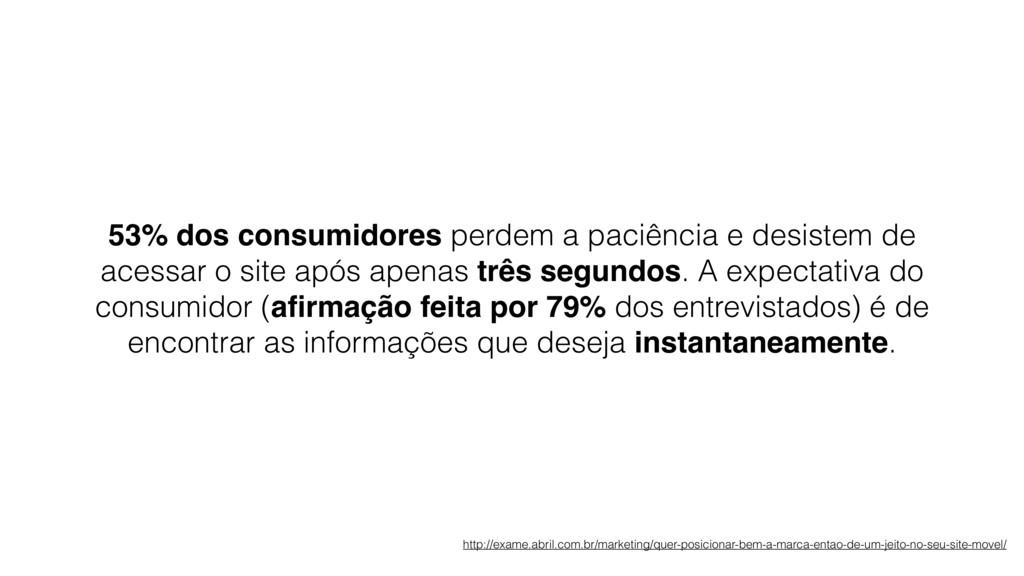 53% dos consumidores perdem a paciência e desis...
