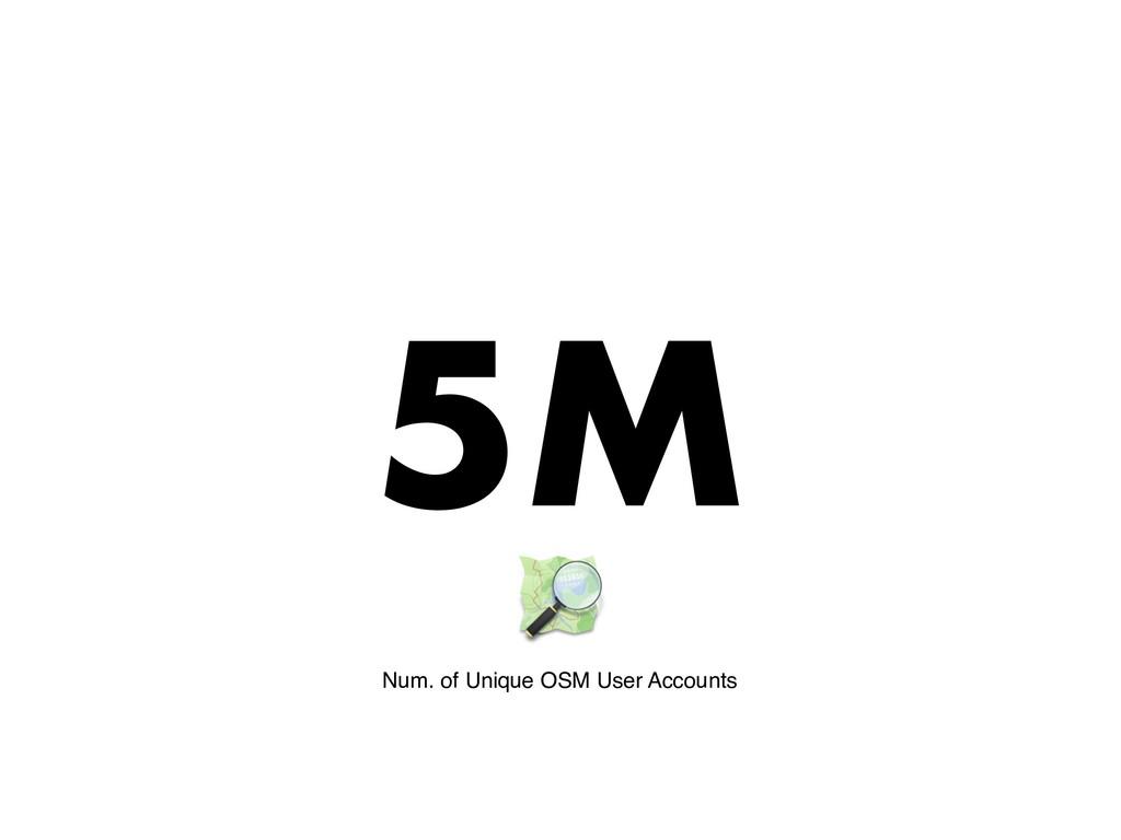 5M Num. of Unique OSM User Accounts