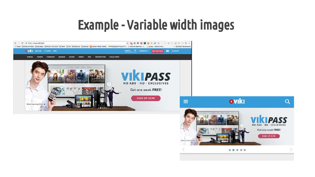 Example - Variable width images