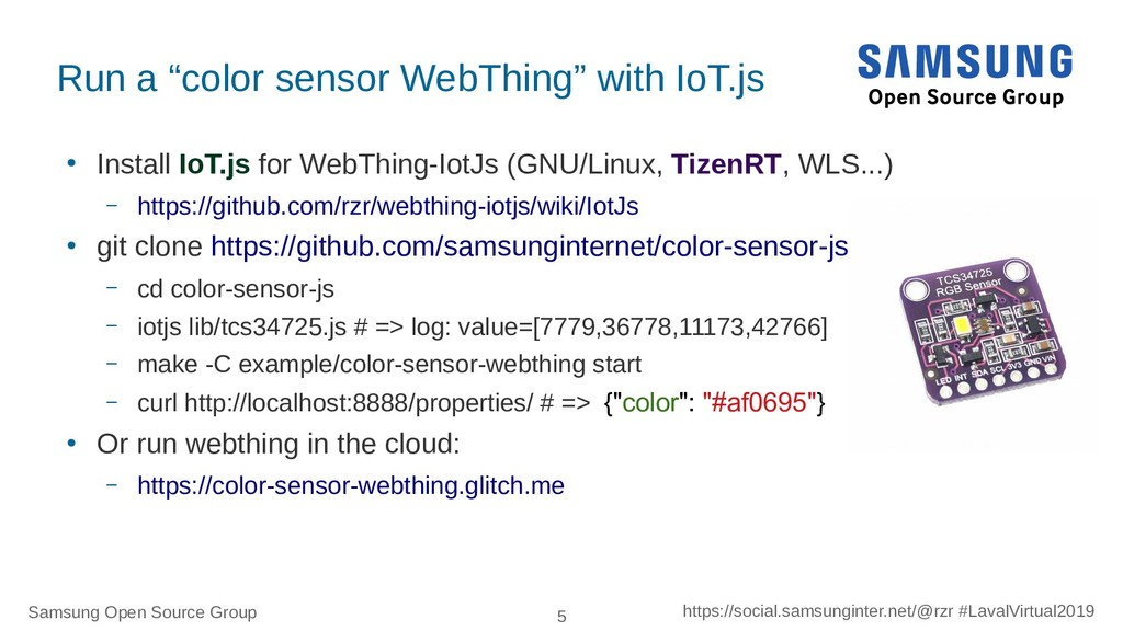 Samsung Open Source Group 5 https://social.sams...