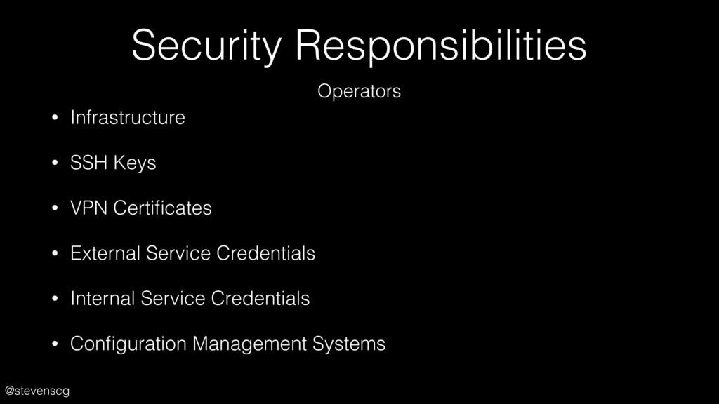 @stevenscg Security Responsibilities • Infrastr...