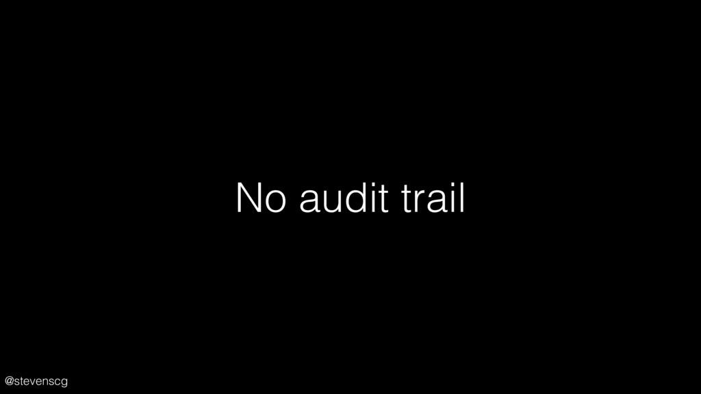 @stevenscg No audit trail