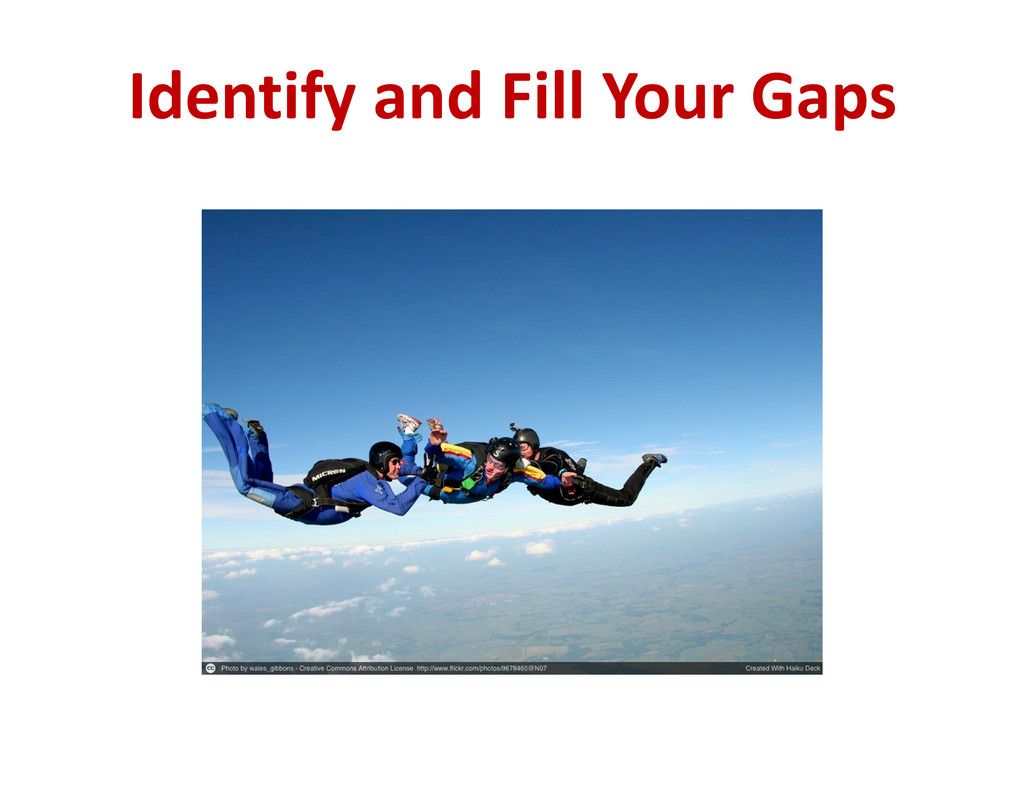 Identify and Fill Your Gaps