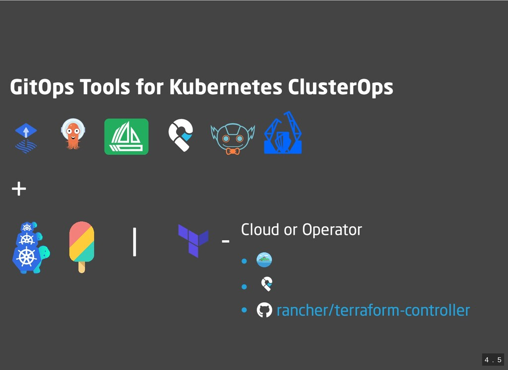 | - GitOps Tools for Kubernetes ClusterOps     ...