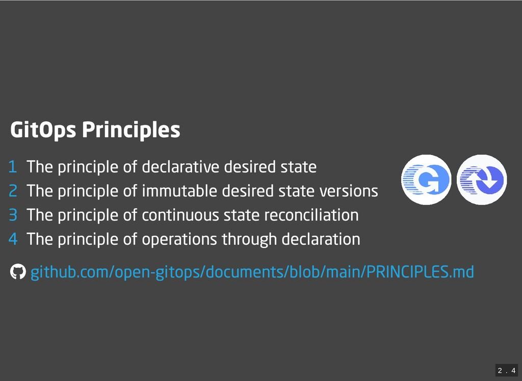 GitOps Principles 1 The principle of declarativ...