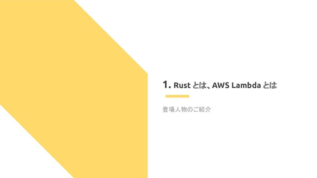 1. Rust とは、AWS Lambda とは 登場人物のご紹介