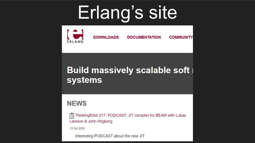 Erlang's site