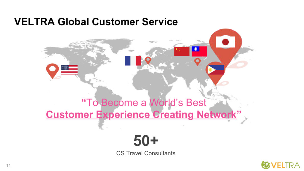 """11 VELTRA Global Customer Service """"To Become a ..."""