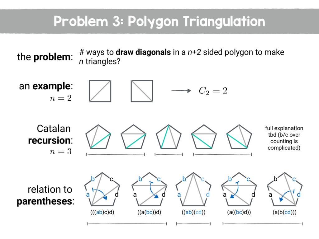 Problem 3: Polygon Triangulation the problem: #...