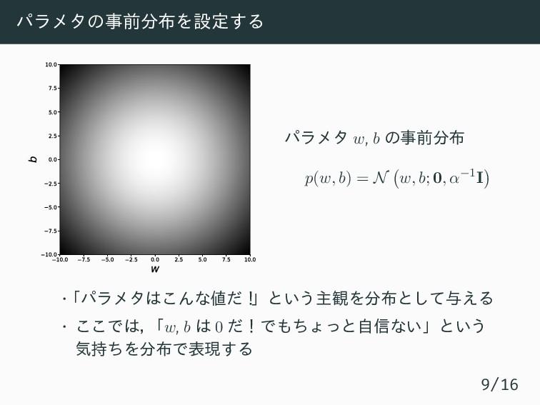 パラメタの事前分布を設定する 10.0 7.5 5.0 2.5 0.0 2.5 5.0 7.5...
