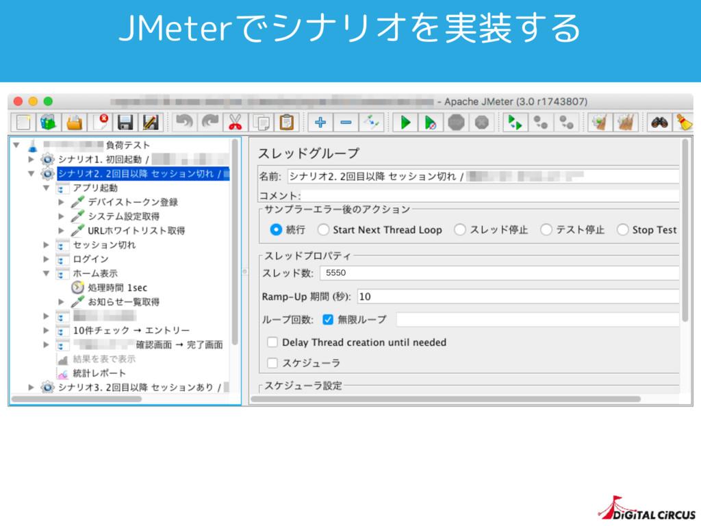 JMeterでシナリオを実装する