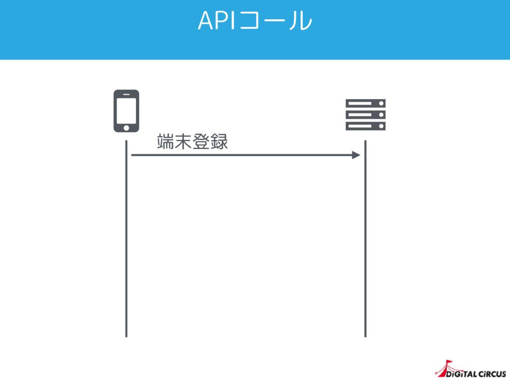 APIコール Ȑ 端末登録