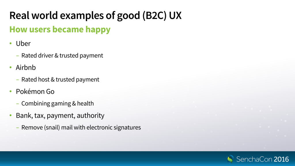 Real world examples of good (B2C) UX How users ...