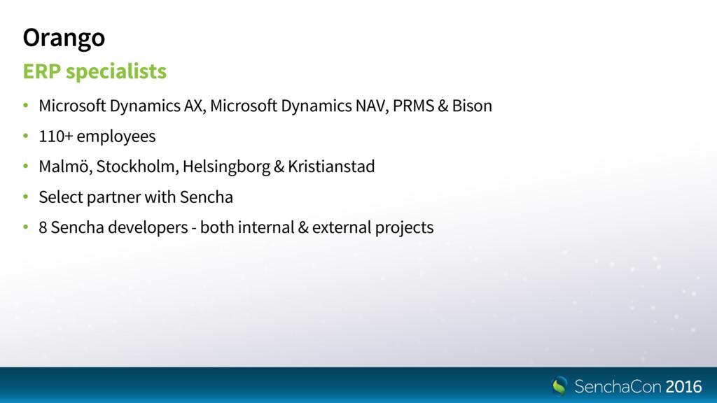 Orango ERP specialists • Microsoft Dynamics AX,...