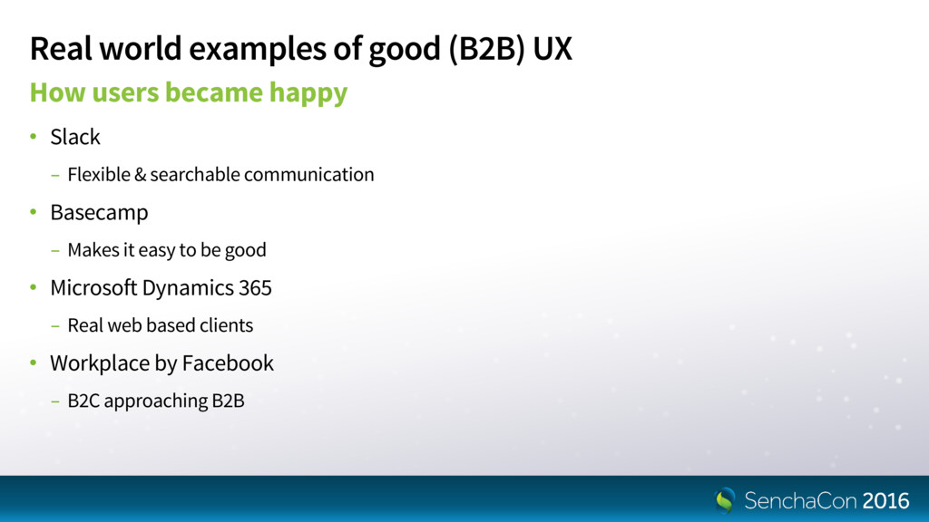 Real world examples of good (B2B) UX How users ...