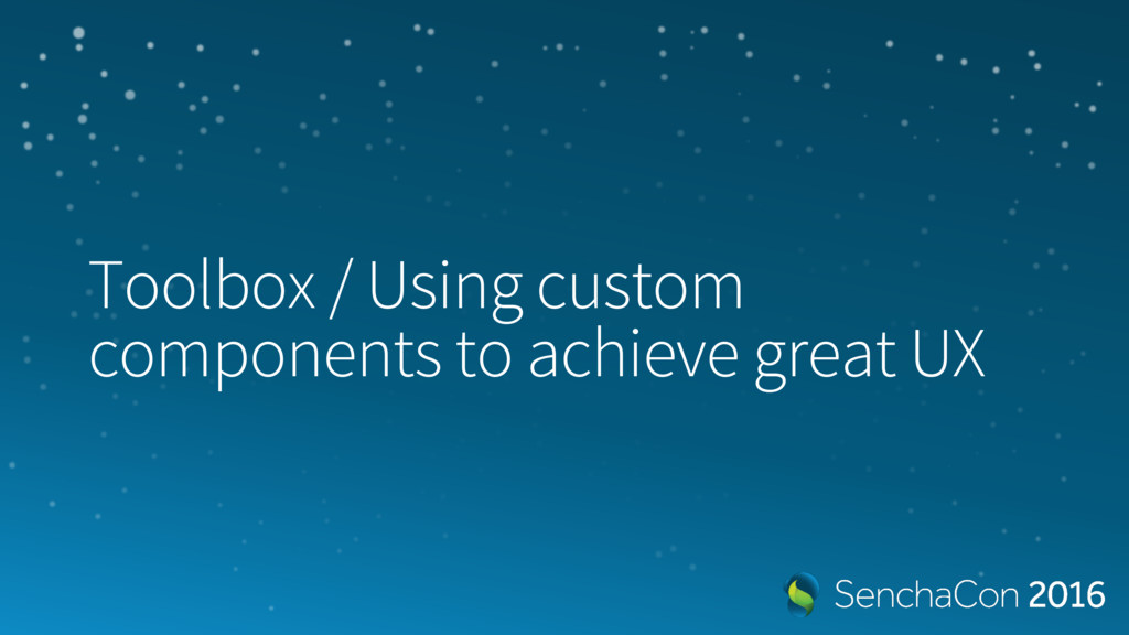 Toolbox / Using custom components to achieve gr...