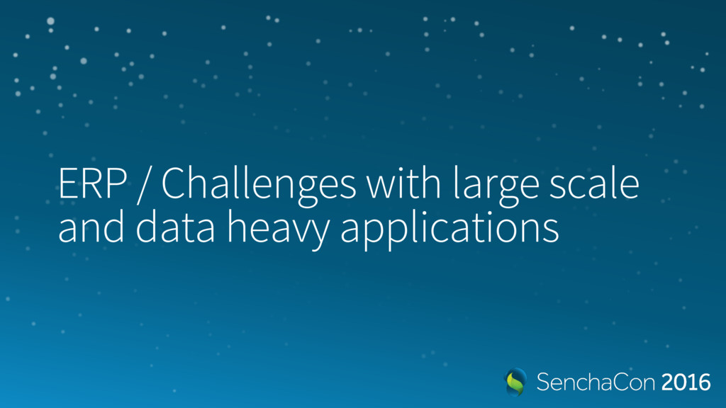 ERP / Challenges with large scale and data heav...