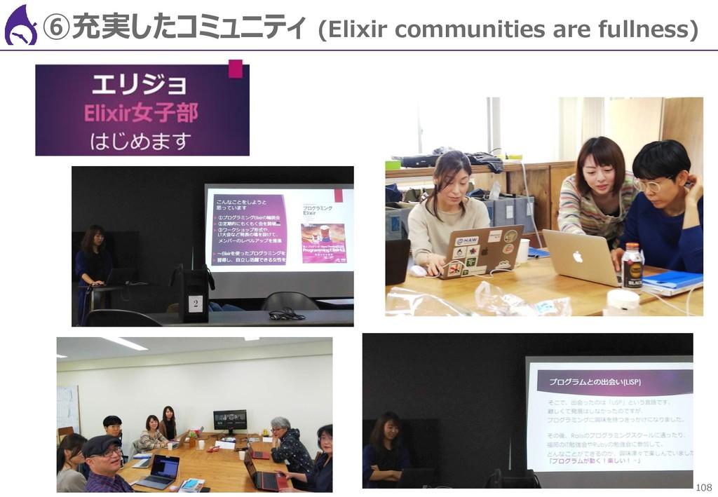 108 ⑥充実したコミュニティ (Elixir communities are fullnes...