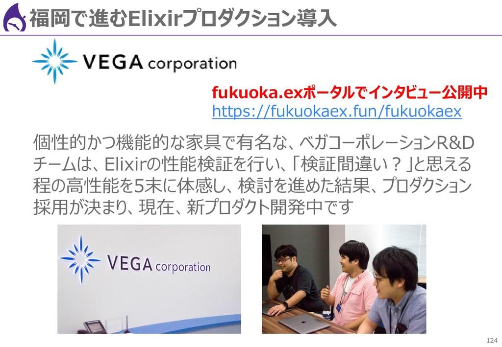 124 福岡で進むElixirプロダクション導入 個性的かつ機能的な家具で有名な、ベガコーポレ...