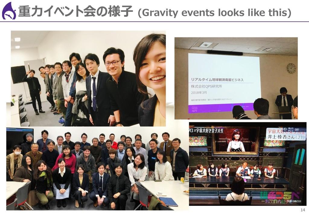 14 重力イベント会の様子 (Gravity events looks like this)