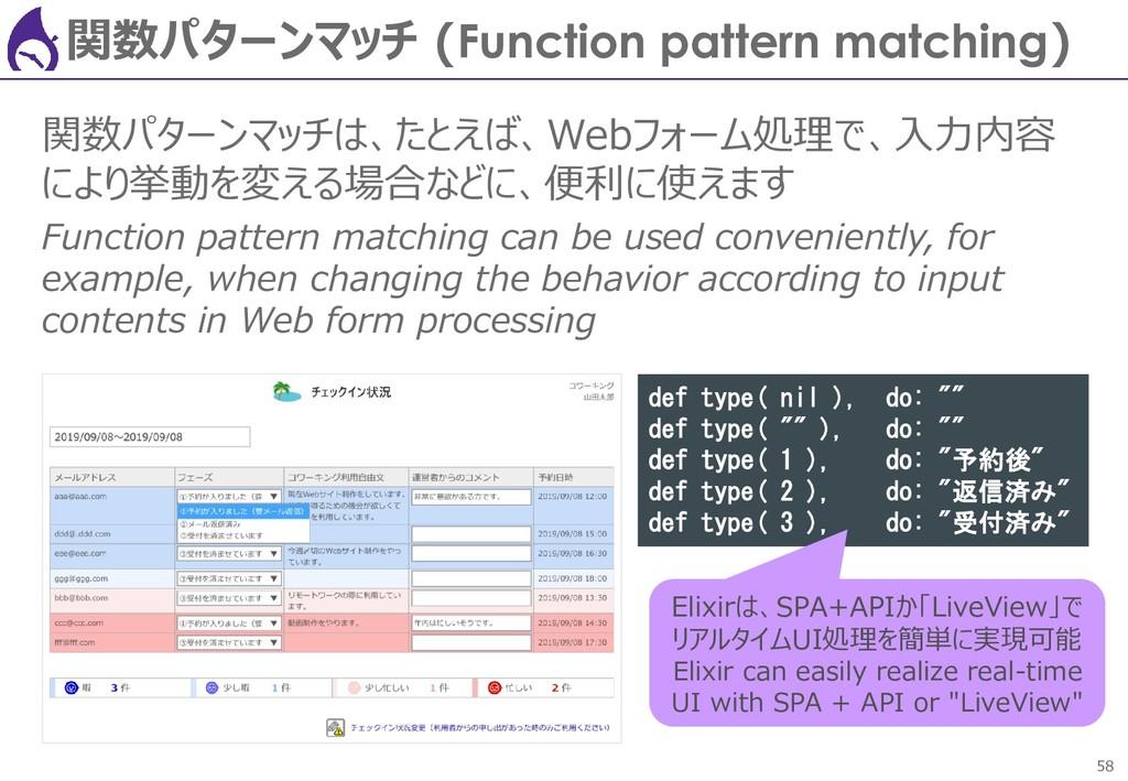 58 関数パターンマッチ (Function pattern matching) 関数パターン...
