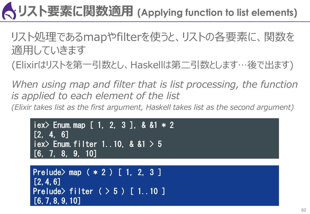 62 リスト要素に関数適用 (Applying function to list elemen...