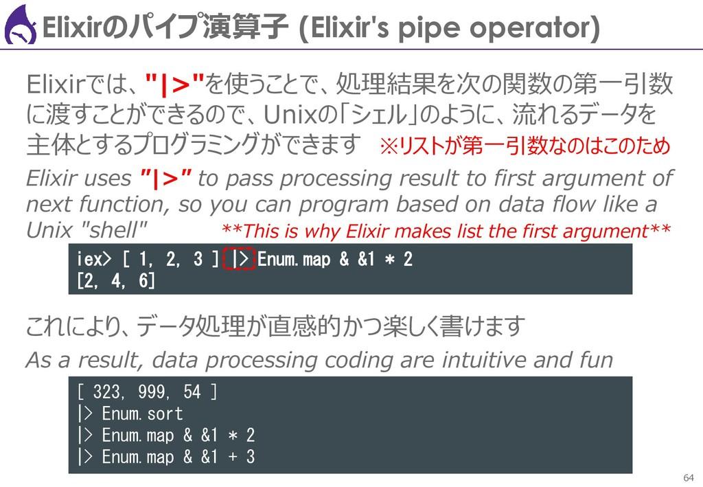 64 Elixirのパイプ演算子 (Elixir's pipe operator) Elixi...