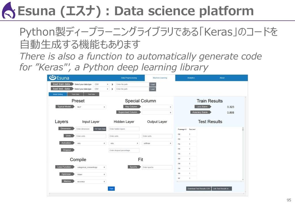 95 Esuna (エスナ) : Data science platform Python製デ...