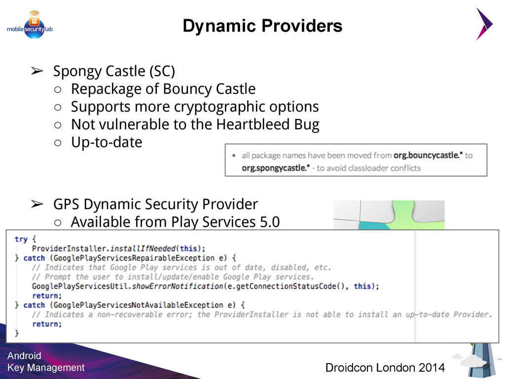 Android Key Management Droidcon London 2014 ➢ S...