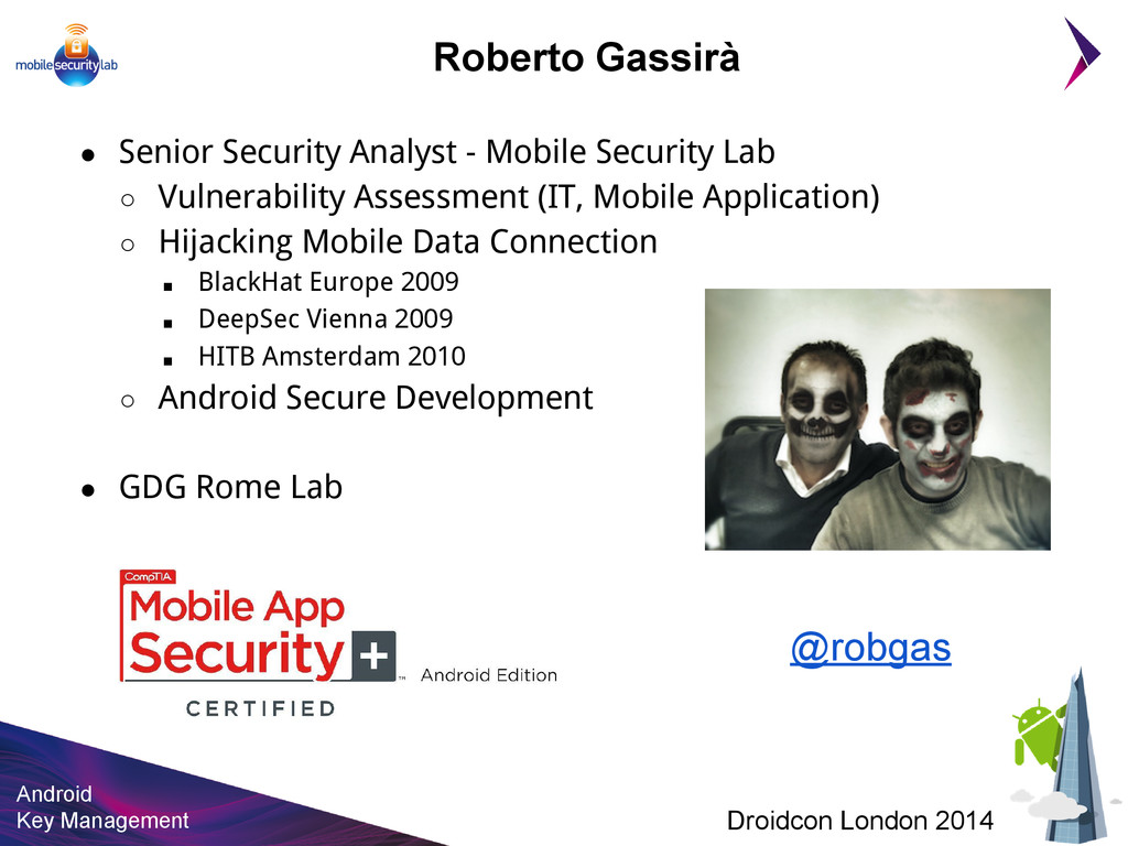 Android Key Management Droidcon London 2014 Rob...