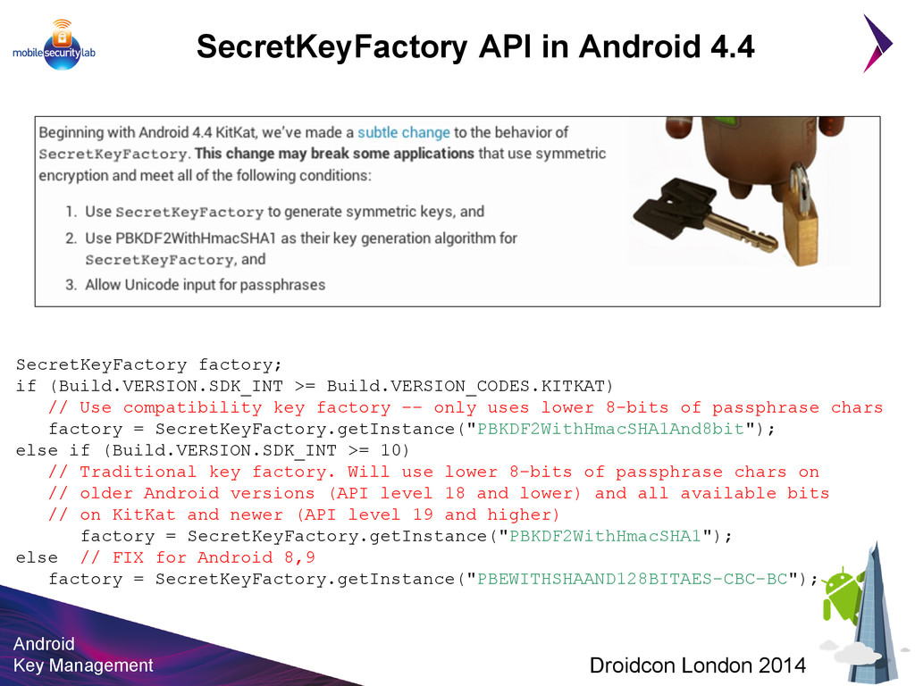 Android Key Management Droidcon London 2014 Sec...