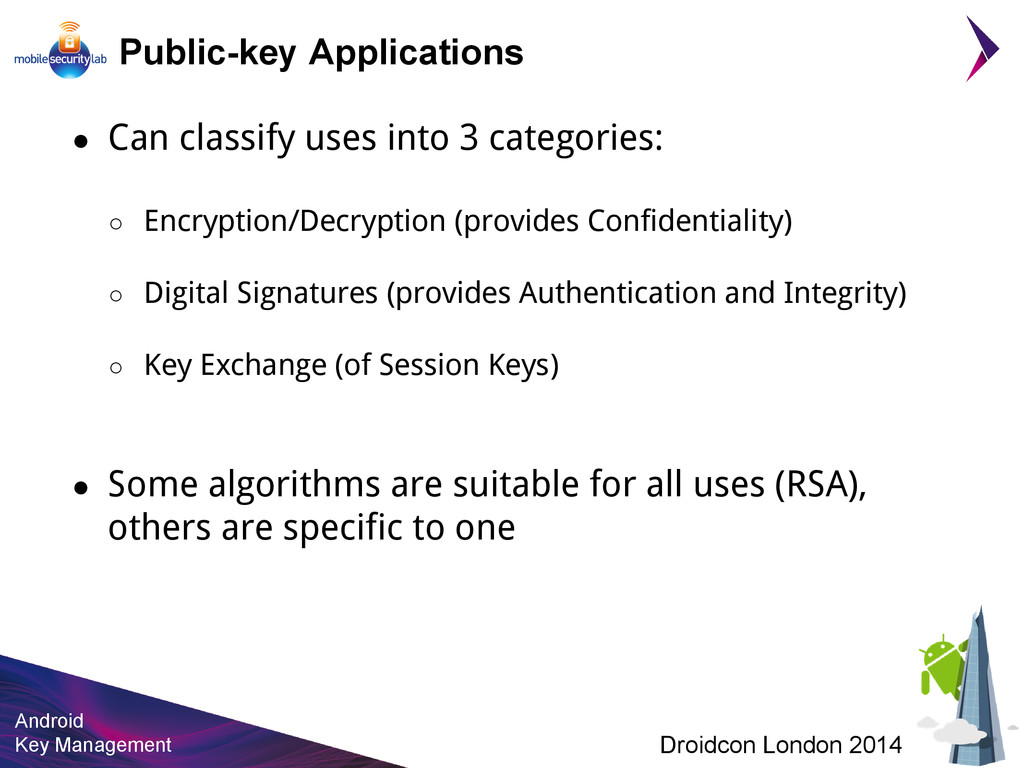 Android Key Management Droidcon London 2014 Pub...