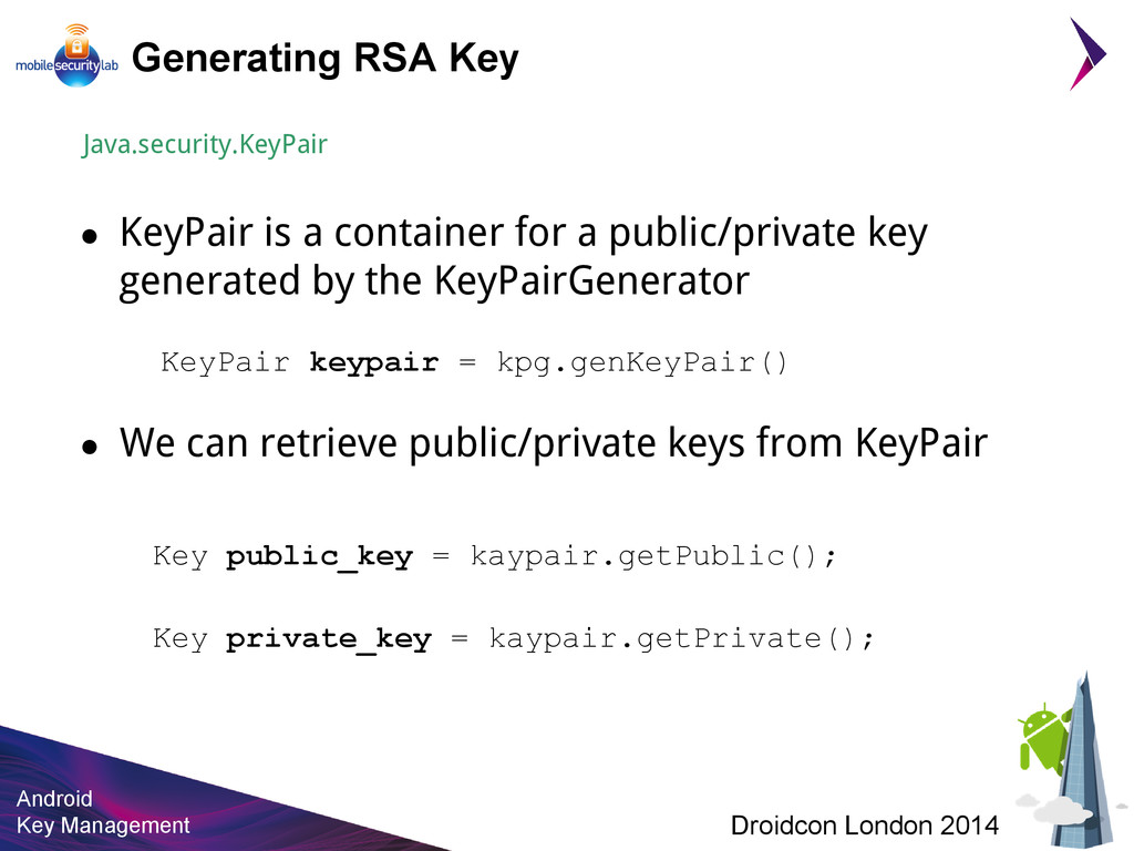 Android Key Management Droidcon London 2014 Gen...