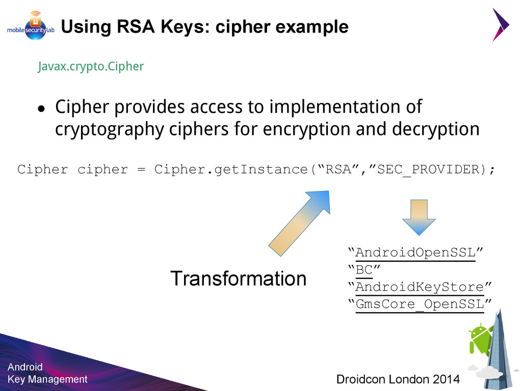 Android Key Management Droidcon London 2014 Usi...
