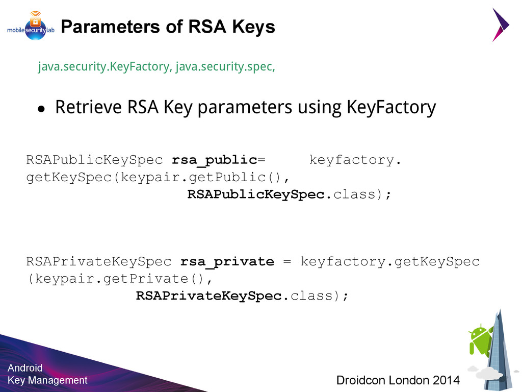 Android Key Management Droidcon London 2014 Par...