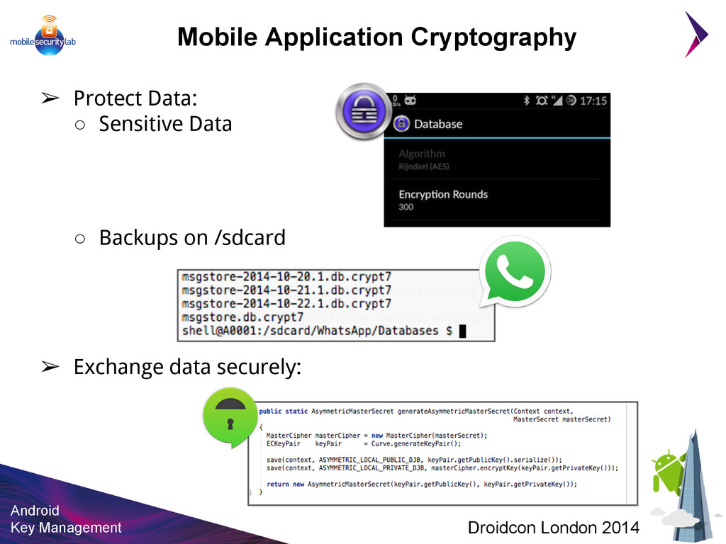 Android Key Management Droidcon London 2014 Mob...