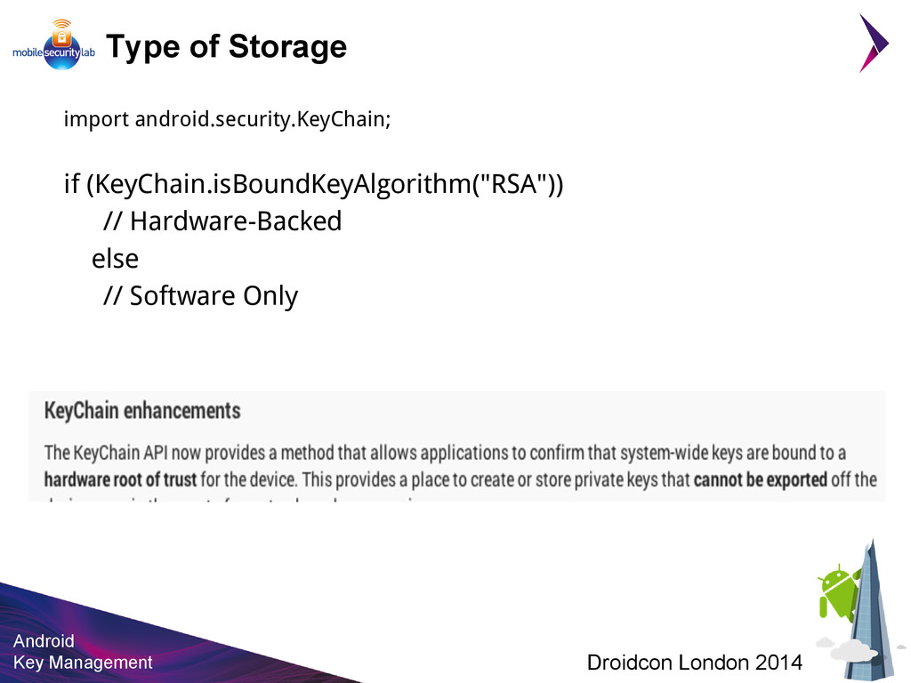 Android Key Management Droidcon London 2014 Typ...