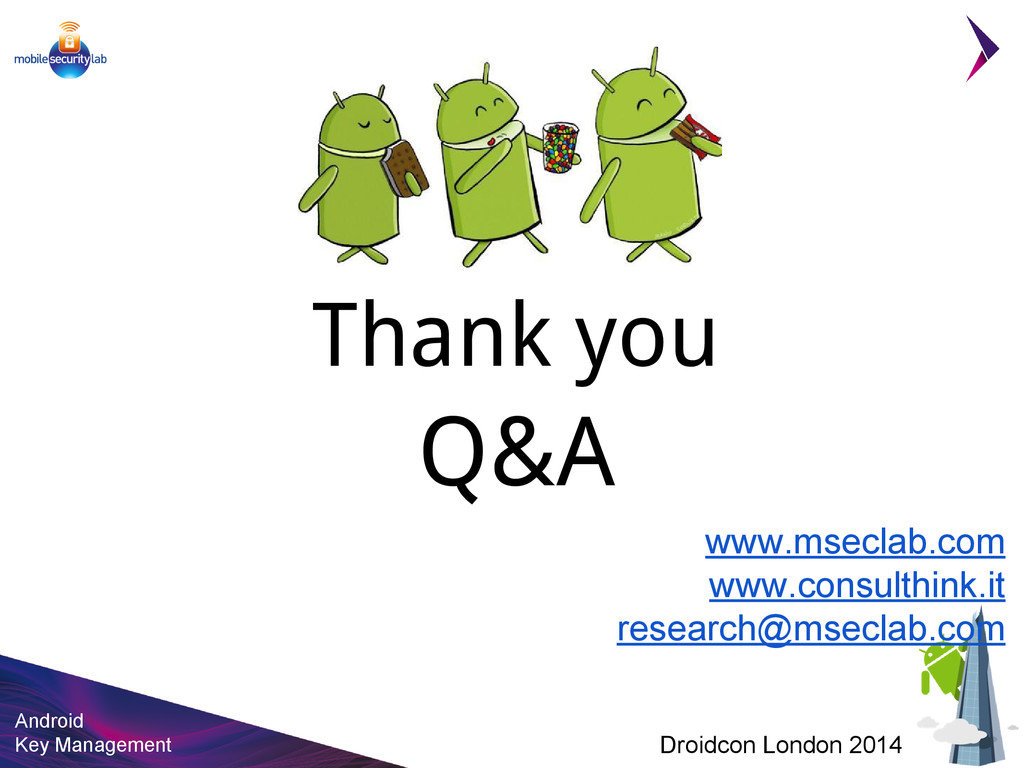 Android Key Management Droidcon London 2014 Tha...